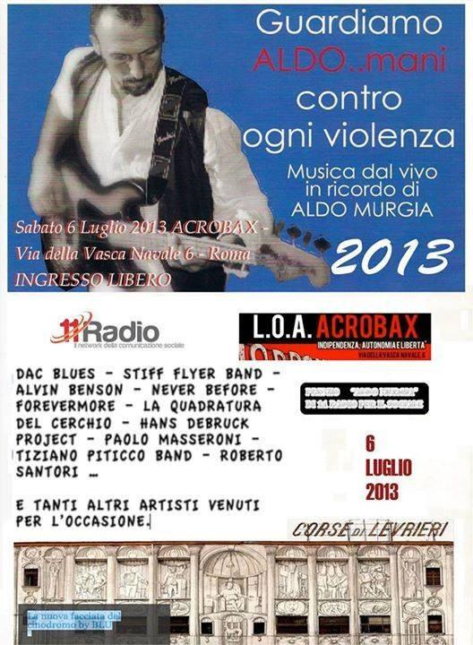 Locandina COncerto per Aldo Murgia con 11 Radio Roma